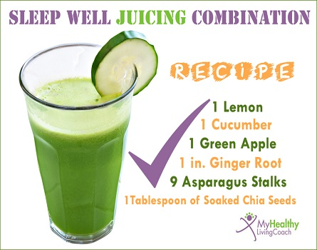 Juicing Combination for sleeping disorder