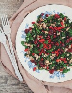 Kale and Parmesan Nuts Christmas Salad