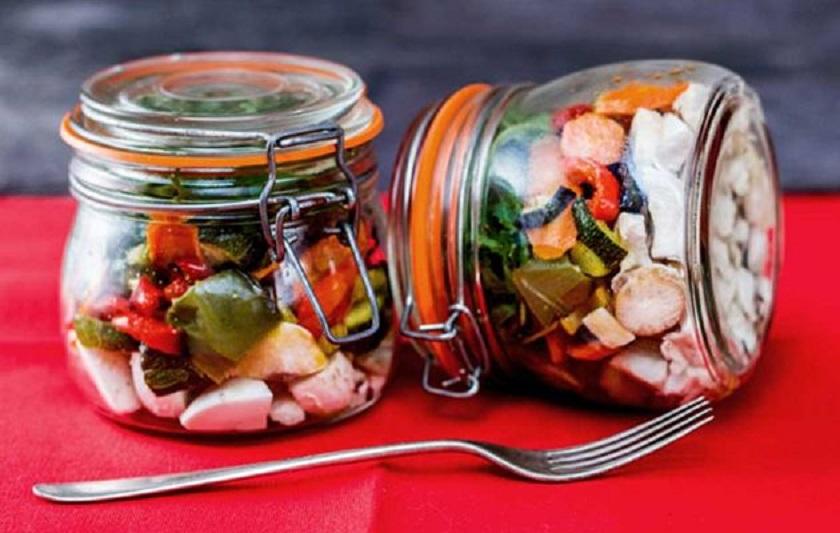 Roast Vegetable Mason Jar Salad Recipe