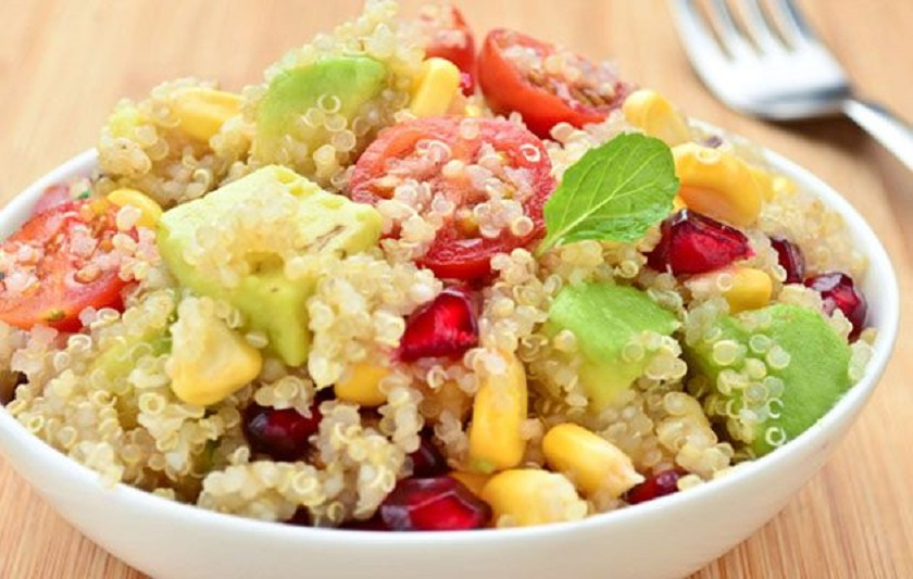 Quinoa Salad with Mint and Pomegranate